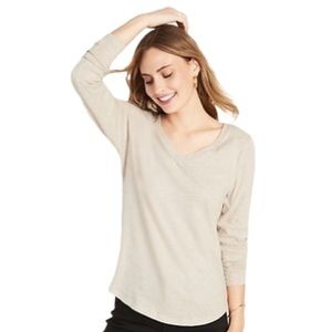 Old Navy Palomino Blouse Knit Pullover Taupe